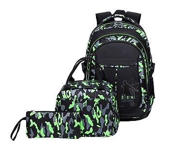 Amazon.com: Tonlen - Mochila escolar y bolsa de almuerzo ...