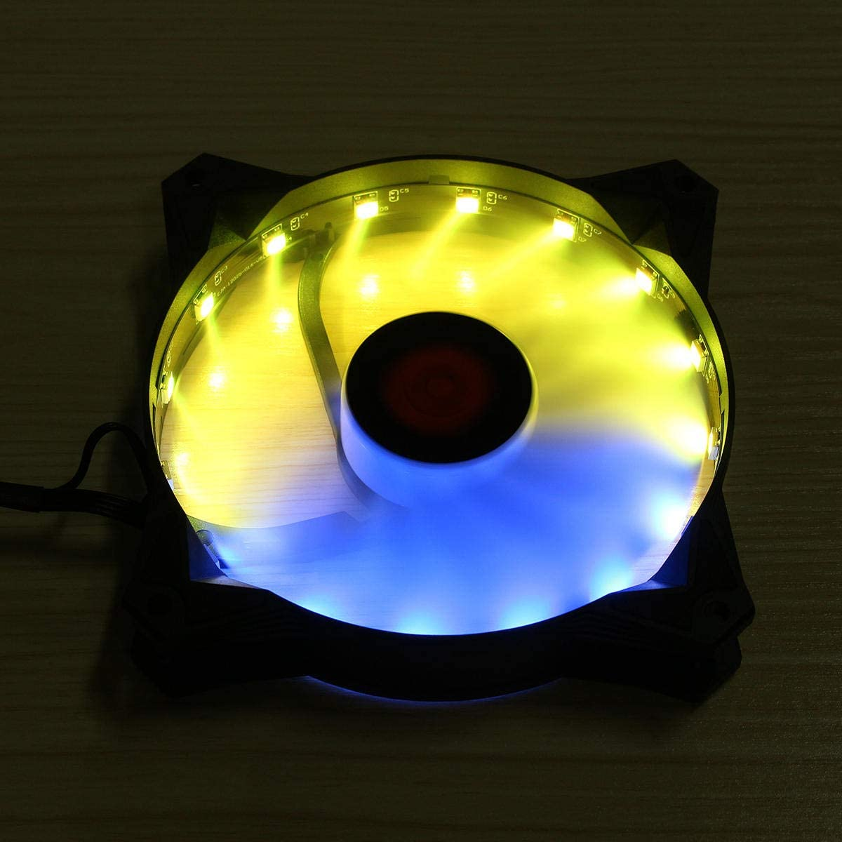 Coolmoon 1PCS 120mm RGB Adjustable LED Light Computer Cooling Fan with Remote Control