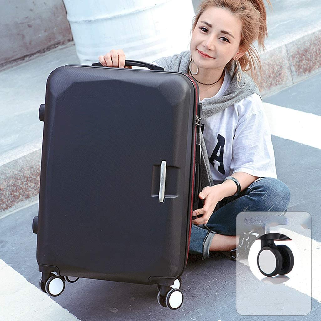Color : Black, Size : 26 inches HUANGA Luggage Large Capacity 26 Inch Adjustable Suitcase Set Simple and Stylish Trolley Case
