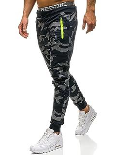 BOLF Hombre Pantalón Baggy con Impresión Pantalón Deportivo Estilo ... 78e7b243b67d