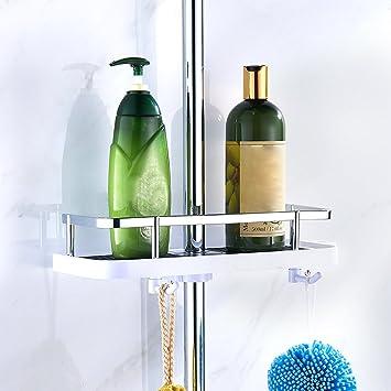 Amazon.com: Hotbestus Adjustable Shower Caddy Shelves for Slide Bar ...