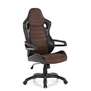 IKAYAA - Grande Silla para Oficina,diseño ergonómico,Profesional (Espalda 57x89cm,PU Rueda,350mm Base,360° Giratorio): Amazon.es: Hogar