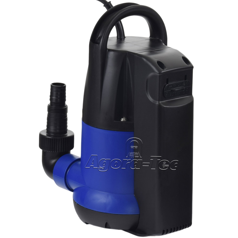 Agora-Tec AT - Bomba sumergible (250 W, para aguas limpias, con interruptor de flotador integrado, máximo 0,6 bares y 6000 l/h): Amazon.es: Jardín