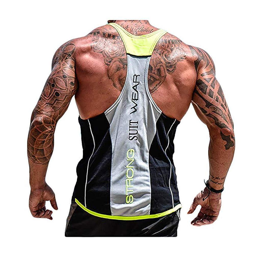 Carolilly D/ébardeur de Sport Homme Gilet Tank Top Respirant sans Manches Gym Fitness Musculation