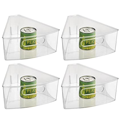 Amazon Com Interdesign Plastic Lazy Susan Cabinet Storage Bin 1 8
