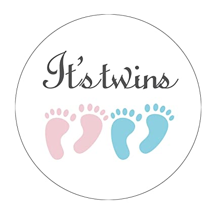 Amazon Magjuche Pink And Blue Its Twins Baby Shower Stickers
