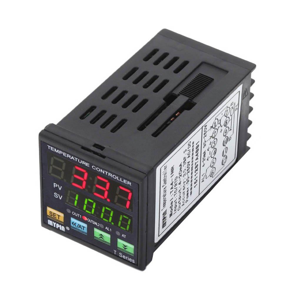 Minzhi MYPIN TA4-INR 90-260V AC/DC Digital PID Temperature Controller 4-20mA Analogue Output Alarm Thermostat Control