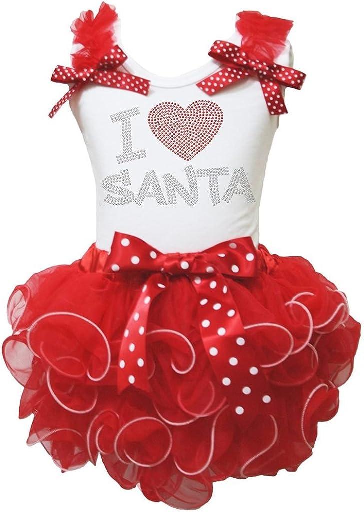 Disfraz de I Love Papá Noel Rojo de Camisa Blanca Falda de pétalos ...