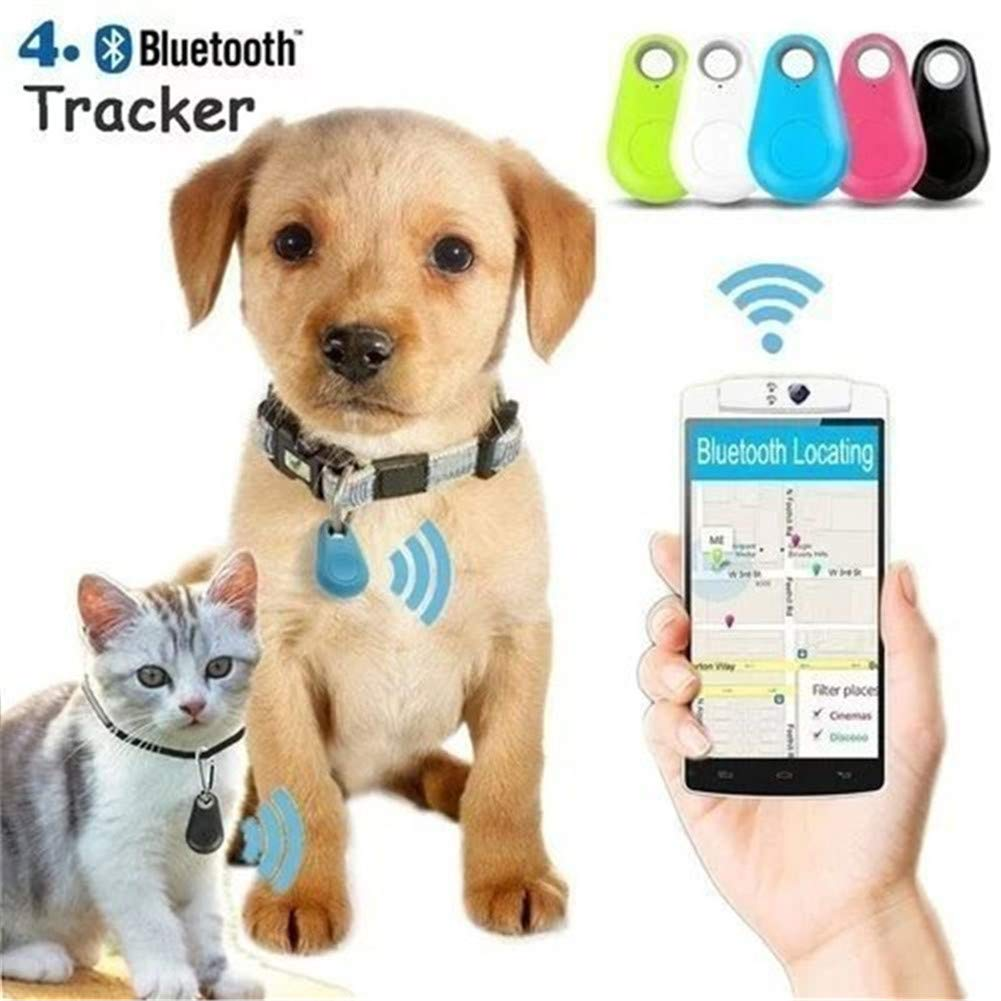 Smart Wireless Bluetooth Tracer 4.0 GPS Locator Alarm Mini Tag for Anti-Lost Anti-Theft - Pet Dog Tracker Smart (Black) huiru tech