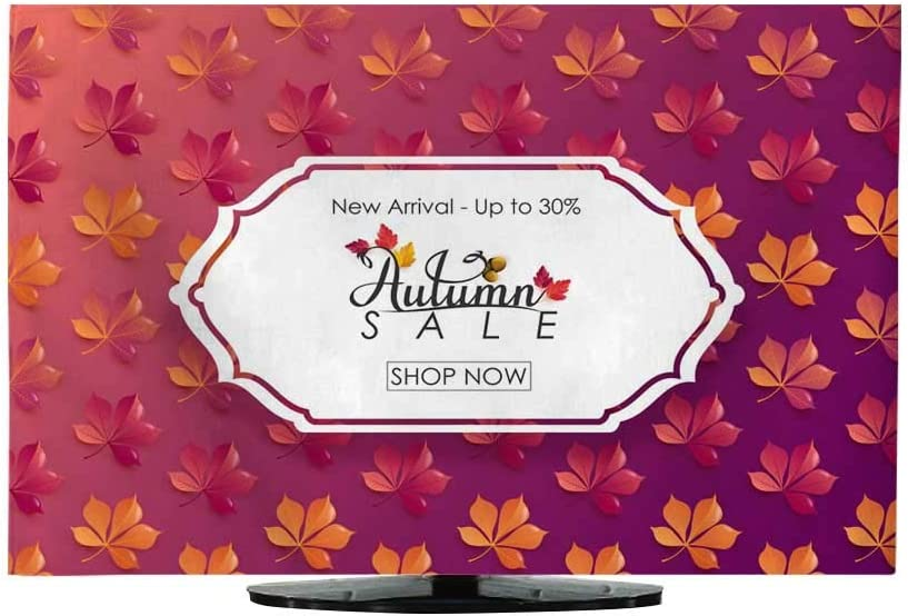 Funda para Cortina de TV con diseño de Hojas de otoño, se Puede Utilizar para la Venta de Compras, Carteles, Invitaciones, sitios Web o Tarjetas de felicitación, ilustración de Vector: Amazon.es: Electrónica