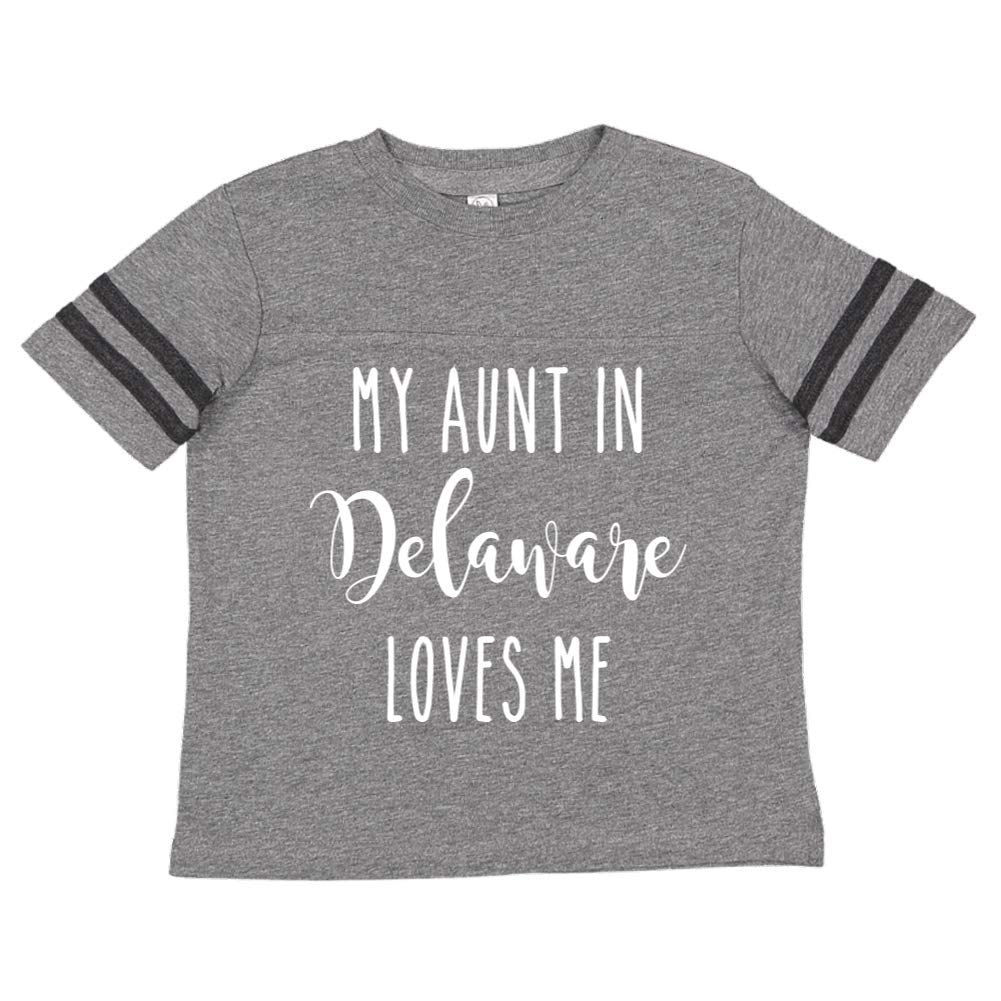 My Aunt in Delaware Loves Me Toddler//Kids Sporty T-Shirt