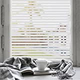 EaseOnSource No Glue Static Decorative Privacy Window Films For Office Home Bathroom Glass Door, 35.4''x 78.7''