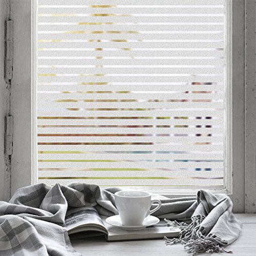 EaseOnSource No Glue Static Decorative Privacy Window Films For Office Home Bathroom Glass Door, 35.4''x 78.7'' by EaseOnSource