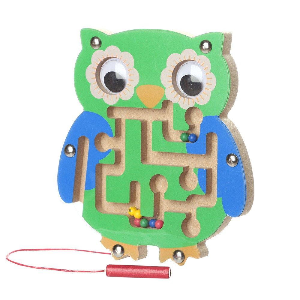 C TianranRT Miniature en bois Conseil enfants Labyrinthe magn/étique Jouet en bois Enfants Jeu Jouet en bois Intellect Conseil Puzzle Conseil c