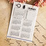 DadaCrafts(TM) Calendar Planner DIY Clear Stamps For Card Making Scrapbooking and 2 Scratch Off Stickers
