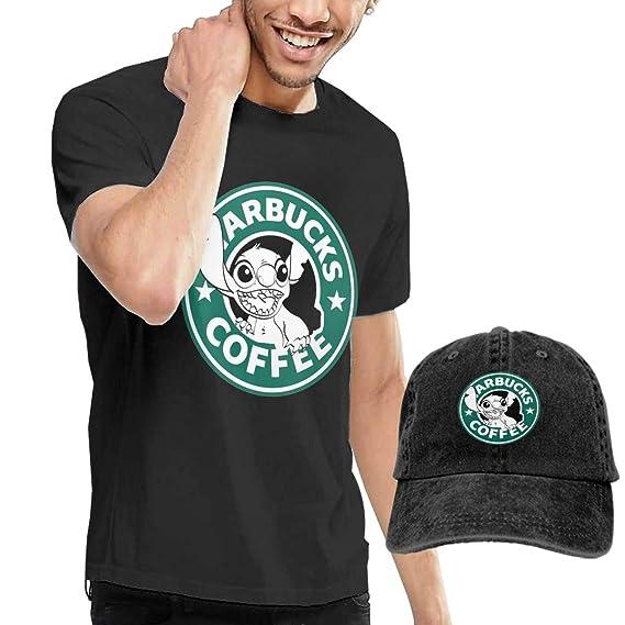 ZifeesaM Lilo and Stitch Starbucks - Camiseta para Hombre con Logo ...