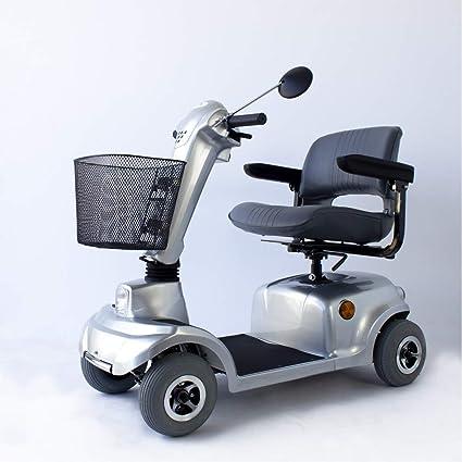 Mobiclinic Scooter eléctrico con 4 Ruedas | Desmontable | para Adultos | Compacto | con Asiento