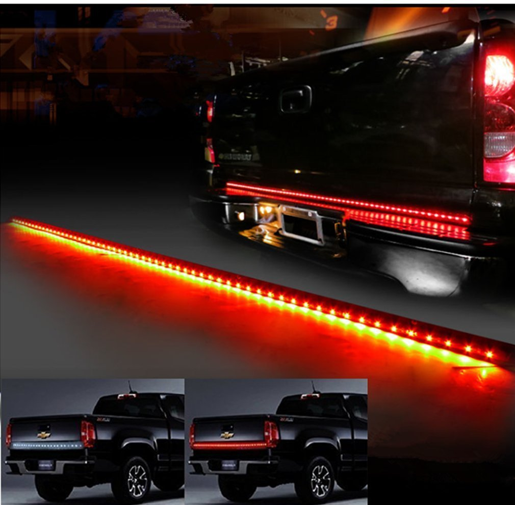 60 Red White Waterproof Tailgate Led Strip Light Bar Stop Wiring 1985 Nissan Pickup Truck Reverse Brake Turn Signal Tail For Ford Gmc Chevy Chevrolet Dodge Ram Toyota
