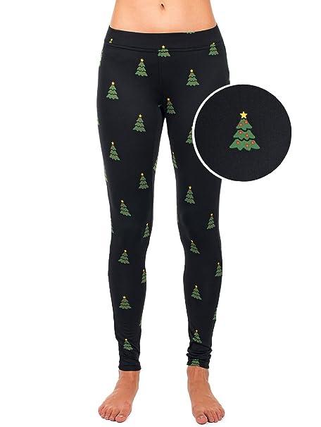 dea58575bc2 Tipsy Elves Women s Christmas Tree Leggings Holiday Pants (X-Large) Green