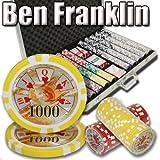 1000 Ben Franklin Poker Chip Set. 14 Gram Heavy Weighted Poker Chips.
