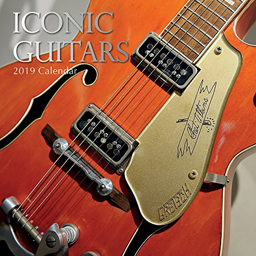 - 2019 Wall Calendar - Iconic Guitars Calendar, 12 x 12 Inch Monthly View, 16-Month, Features Signed Electric Guitars by Famous Artists, Includes 180 Reminder Stickers