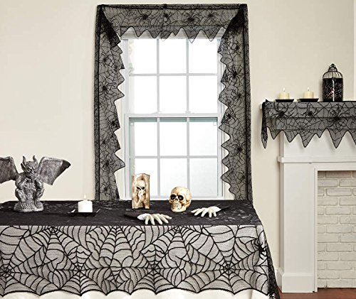 Halloween Spiderweb Lace Cloths, 3-piece set]()
