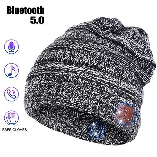 Bluetooth Beanie Hat, Stocking Stuffers for Men Women Husband Birthday Gifts for Boyfriend Bluetooth Music Hat with…