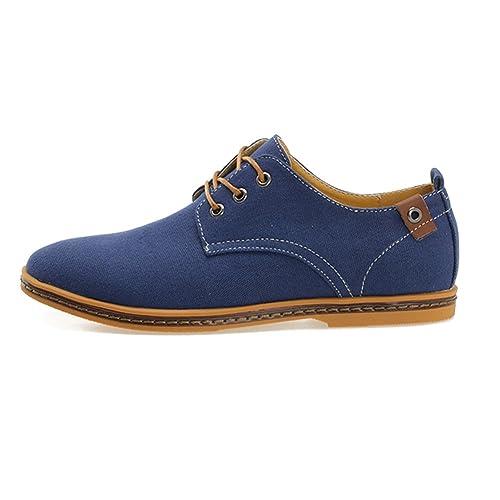 Zapatos Lona de Cordones Zapatillas de Vestir para Hombre: Amazon.es: Zapatos y complementos