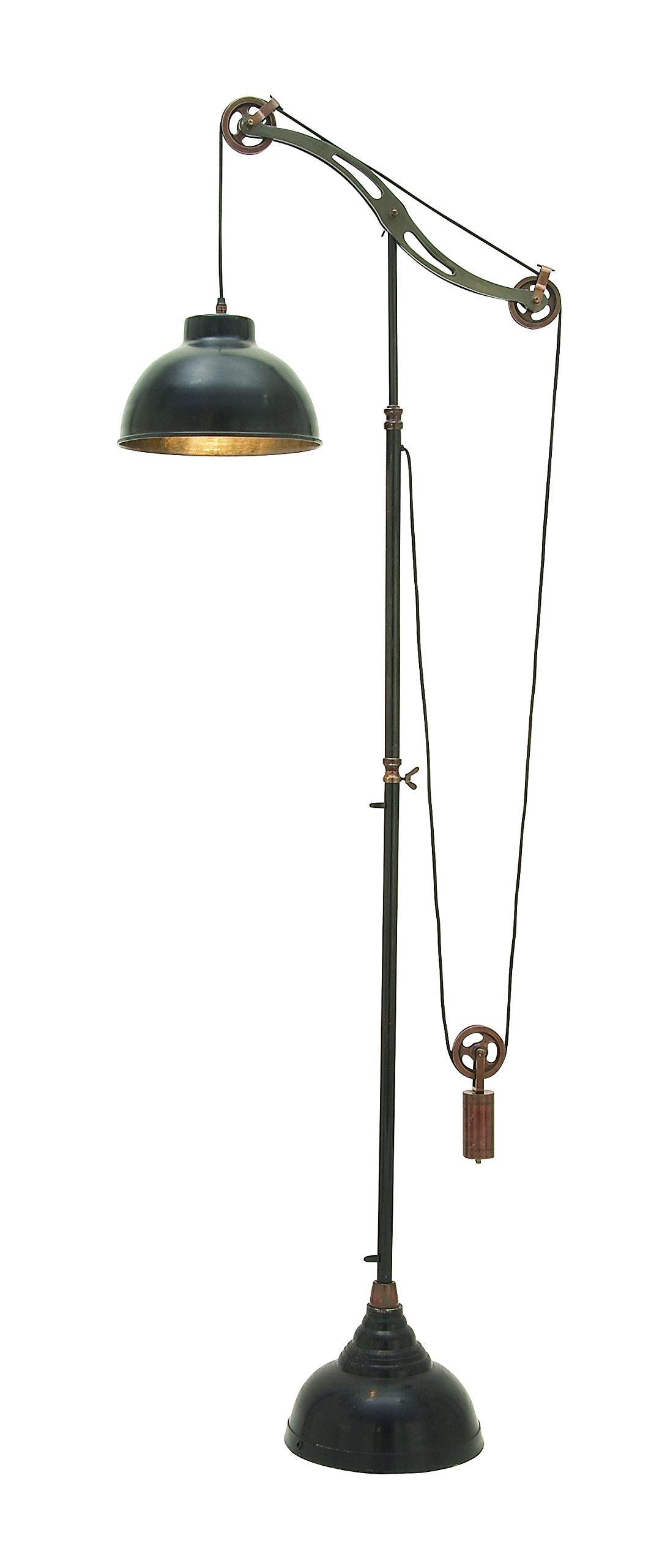 Deco 79 24515 Aluminum Pully lamp 77'' H -