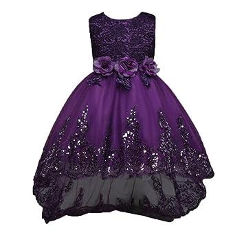 Btruely Prinzessin Kleid Mädchen Bowknot Brautjungfern Kleid Lange ...