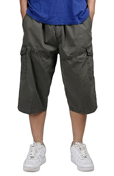 ed22e50c19be Panegy Mens Cotton Active Outdoor Short Pants Lightweight Cargo Overalls S  - Army Green