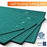 Self Healing Rotary Cutting Mat, Full 18x24, Best for Quilting Sewing | Warp-Proof & Odorless (Not...