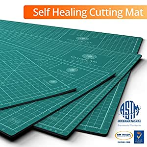 Self Healing Rotary Cutting Mat, Full 12x18, Best for Quilting Sewing | Warp-Proof & Odorless (Not From China)