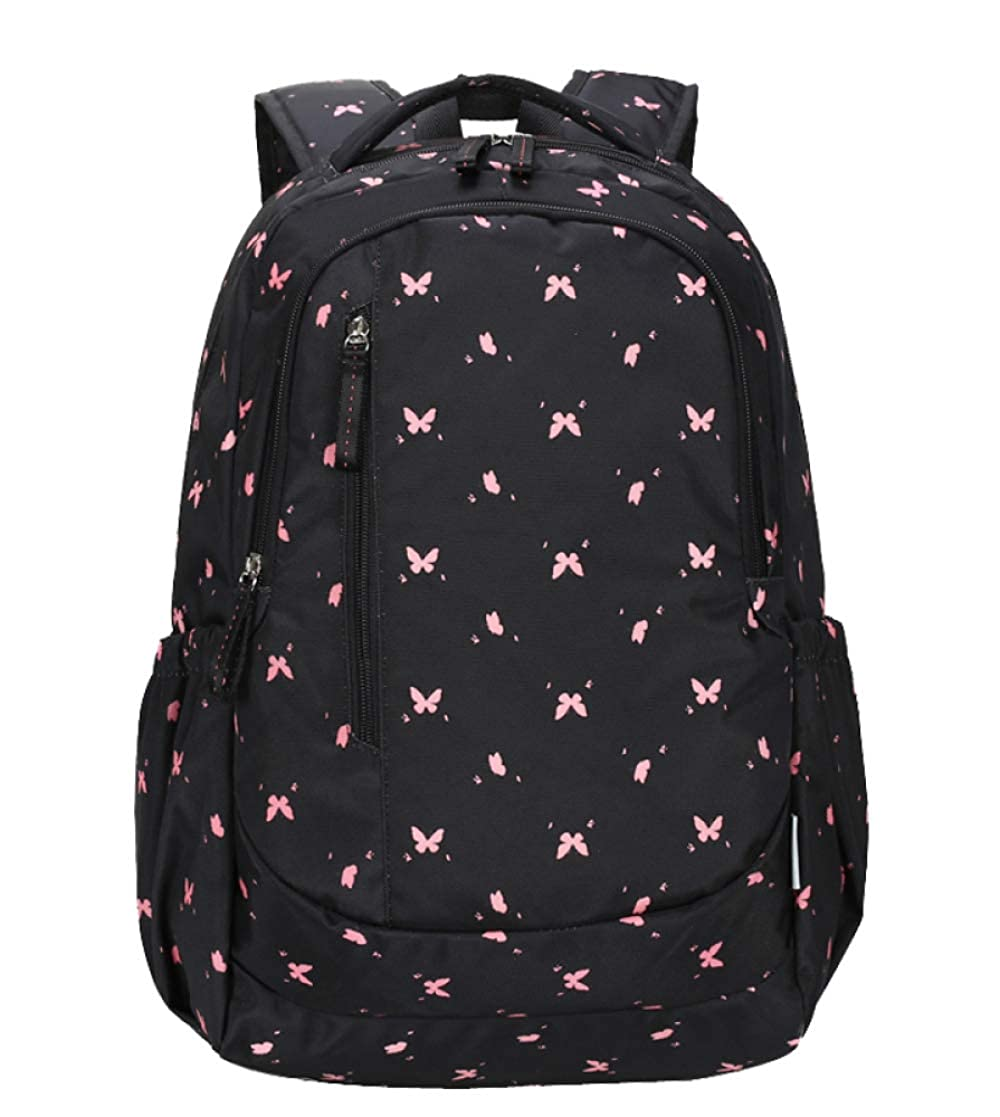 Blackbutterfly big FLHT, Girl Backpack Large Capacity Waterproof Lightweight High School College Student Bag Primary School Campus Leisure Travel Backpack