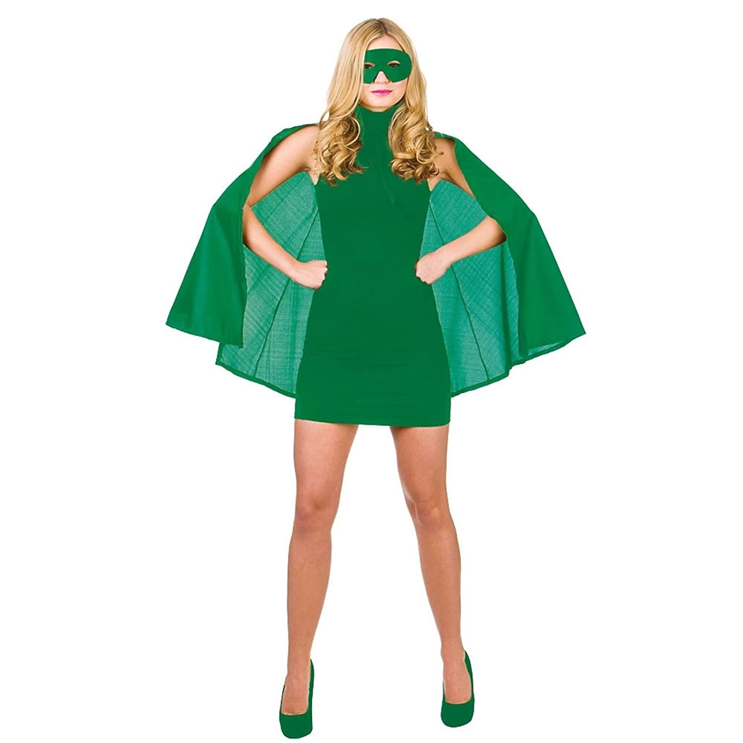 Red Superhero Cape and Mask fancy dress costume accessory Adult super man girl