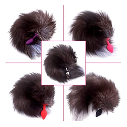 a4c7c8930 Amazon.com: TINGSHOP Dog Tail Anal Plug Small Fox Tail Getting ...