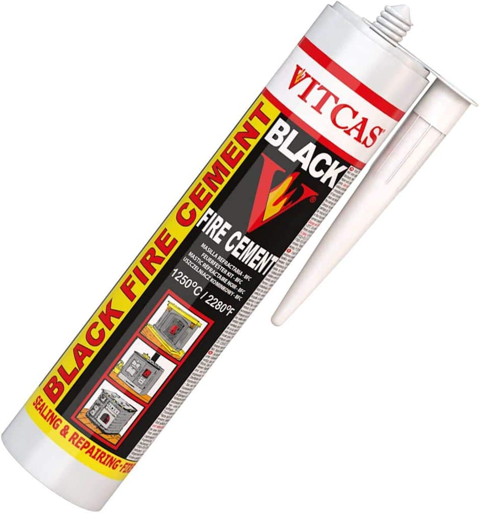 VITCAS - Cemento para Chimeneas, Estufas, 310ml, soporta hasta 1250ºC
