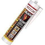 VITCAS - Cemento para Chimeneas, Estufas, 310 ml, soporta hasta 1250 ºC