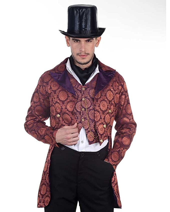 Men's Steampunk Clothing, Costumes, Fashion Steampunk Victorian Gentleman Opera Coat Costume $79.99 AT vintagedancer.com
