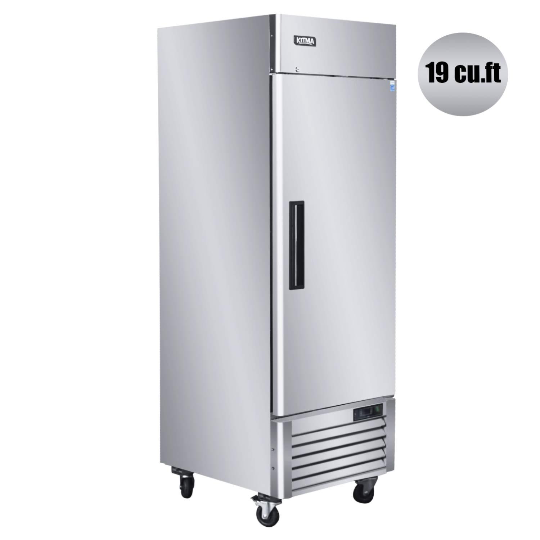 KITMA 27'' Single Door Reach in Commercial Refrigerator - 23 Cu. Ft Stainless Steel Heavy Duty Upright Fridge for Restaurant