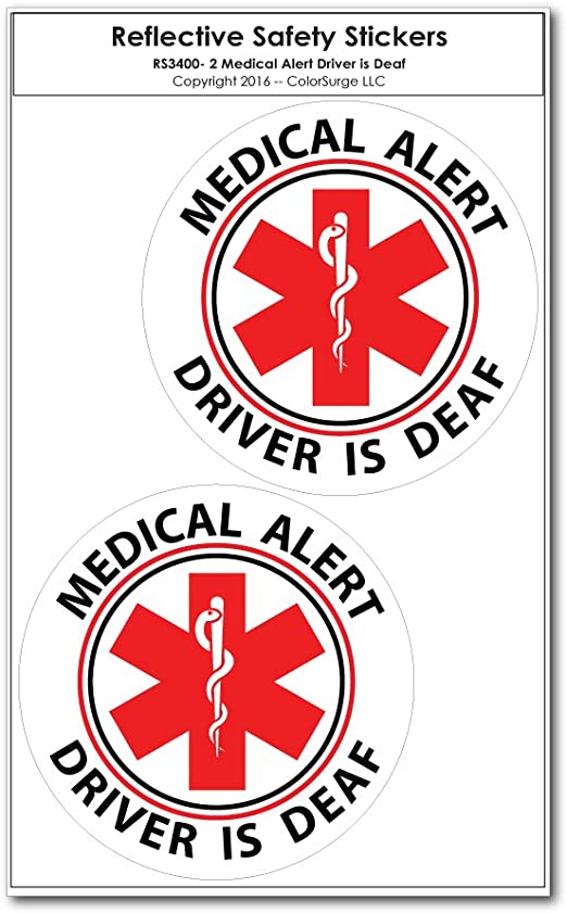 "Bumper Window 3M Reflective Sticker Decal Emergency Medical NEW choose 2/"" 4/"" 6/"""