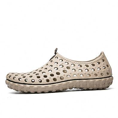 20db568c0b75da Summer Beach Sandals Men Outdoor Garden Shoes Casual Unisex EVA Slippers  Men Water Shoes Beach Flip Flops Croc Clogs Khaki 11  Amazon.co.uk  Shoes    Bags