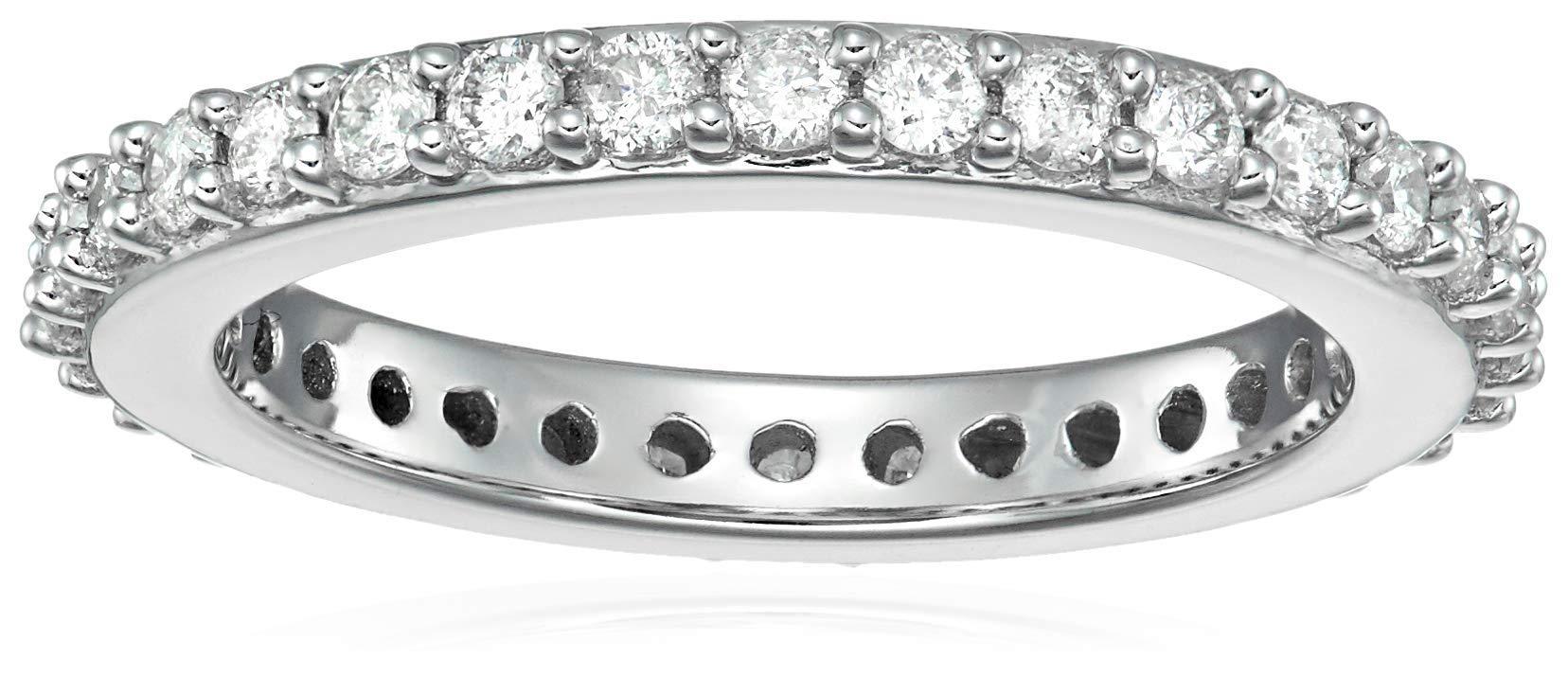 1 cttw Diamond Eternity Ring in 14K White Gold Size 5