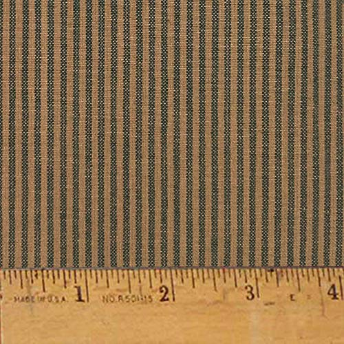 Heritage Green Stripe Cotton Homespun Plaid Fabric by JCS - Sold by The Yard