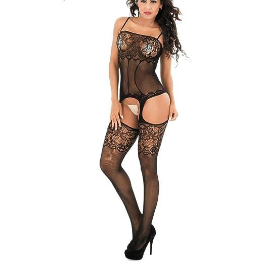1e50b33c5a4 Ltrotted Women Lace Sexy-Lingerie Nightwear Underwear G-String Babydoll  Sleepwear (Black)