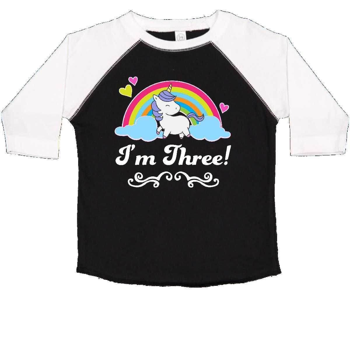 inktastic 3rd Birthday Rainbow with Unicorn Toddler T-Shirt