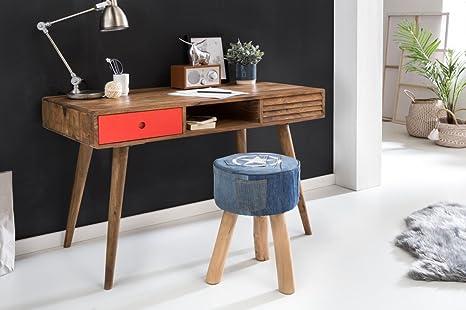 Scrivania Ufficio Legno Massello : Wohnling scrivania repa 120 x 60 x 75 cm da tavolo in legno massello