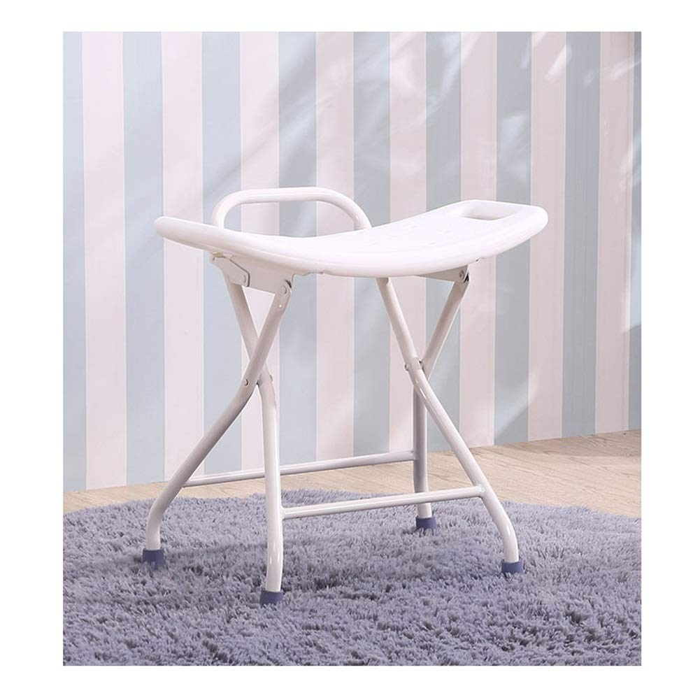 Beauty Bathroom Stool Old Man Shower Stool Household Fold Safety Small Chair Non-Slip Plastic Bench Thicken Portable Medical Stool