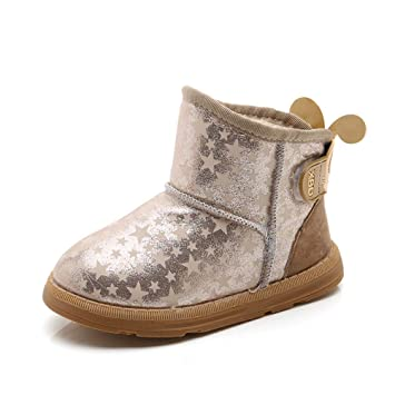 8530540c6b772 Stillshine Enfants Bottes De Neige Filles Bébés Bottes Hiver Peluche Hiver Chaussures  Bottes De Neige Chaudes