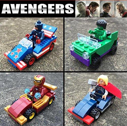 New Lepin03002 4pcs/set Marvel Minifigures Batman Superman Spiderman Action Figures Toys jouet cadeau chiffre